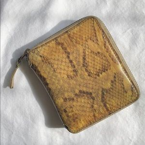COMME DES GARÇONS Snake Holographic Zipped Wallet